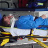 Is it better to drive an injured or ill patient to hospital or to call an ambulance?