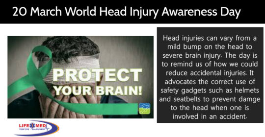 20 MARCH WORLD HEAD INJURY AWARENESS DAY